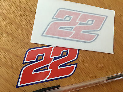 Sam Lowes Race Number 22 - (Small Pair) 2017