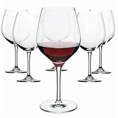 Dartington Crystal - Set of 6 Classic Red Wine Glass Large Glasses
