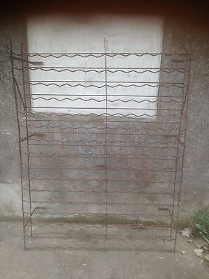 Antique Country House Wine Cellar Wine Rack 208 Bottle Storage Wrought Iron