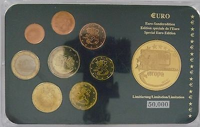 Finnland 1999 - 2004 Euro KMS 3,88 Euro Sonderedition Blister incl. Medaille PP