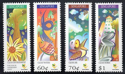 SINGAPORE MNH 1997 SG904-7 25th Anniversary of the Ministry of the Environment