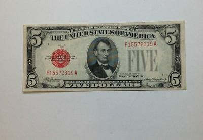 1928-C $5 United States Note, Red Seal