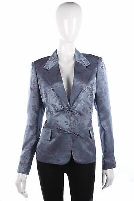 Lovely blue floral evening jacket size 14