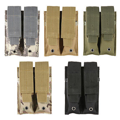 9MM Magazine Pouch Close Holster 600D Tactical Molle Dual Double Pistol Mag New