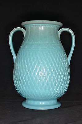Rookwood 1928 Turquoise Matte 2 Handled Vase - 10 3/8 inch tall