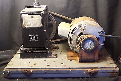 Vintage 1920s 30s Cenco Hyvac Pump & General Electric Motor Central Scientific