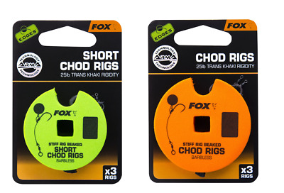 Fox Edges Barbless Pre-Tied Chod Rigs For Fishing