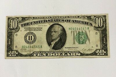 """1928-B $10-St.Louis """" Redeemable in Gold on Demand"""" FRN Note"""