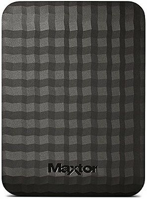 Maxtor M3 500 GB USB 3.0 Slimline Portable Hard Drive - Black
