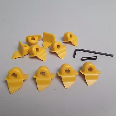 10-PACK Yellow Plastic Inserts for Mount / Demount Heads for CORGHI 8-11100106