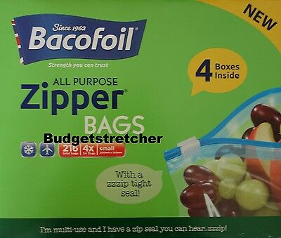 Bacofoil All purpose Heavy Duty Zipper Bags Pack of 216 Smart Zip Bag 200x150mm