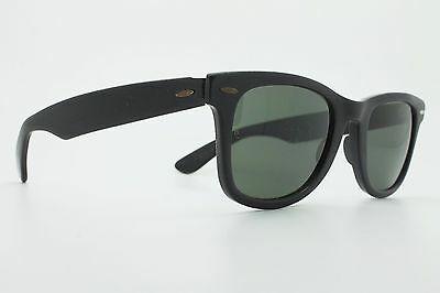 VINTAGE 70's Ray Ban WAYFARER 22 BLACK EDIT / BL G-15 sunglasses U.S.A ++++