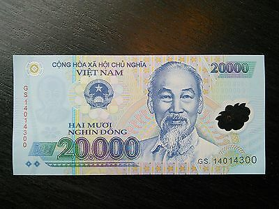 $20000 Vietnamese Dong VND Vietnam Banknote Currency Sequential UNC Uncirculated