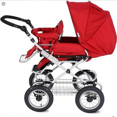 Bumbleride Queen B Stroller in Ruby Red
