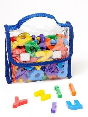 EduKid Toys MAGNETIC LETTERS & NUMBERS 72 pcs Educational Magnets in Tote ~NEW~