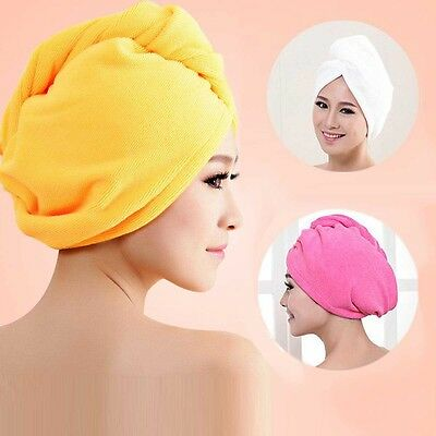 New Hair Drying Towel Turban Bath Cap Washcloths Bath Plush Microfiber