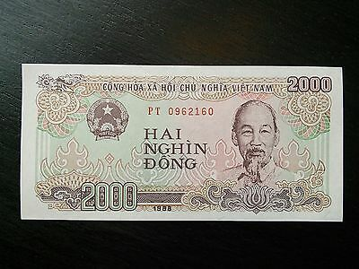 $2000 Vietnamese Dong Vietnam Banknote Currency Sequential VND Uncirculated UNC