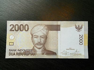 $2000 Indonesia Rupiah 2000 Indonesian UNC Uncirculated Banknote Currency