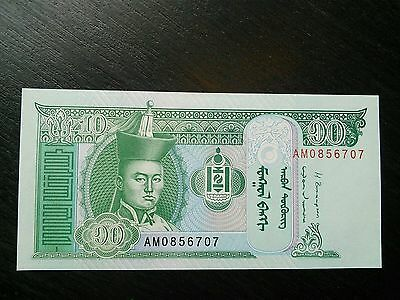 $10 Mongolia Tugrik Mongolian 10 Uncirculated UNC Currency Banknote Sequential