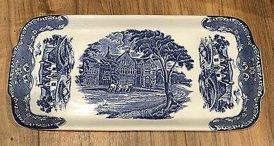 Beautiful WH Grindley & Co. Blue The Peacock - The Kingshouse rectangle Plate