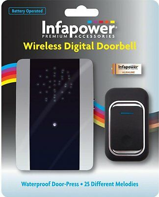 Infapower X013 Loud Wireless Battery Operated Door Bell With 25 Melodies