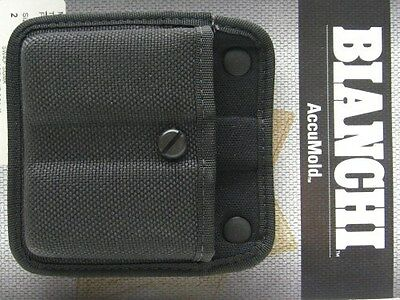 BIANCHI Black 7320 AccuMold TRIPLE THREAT II Double Mag Magazine Group 2 Pouch!