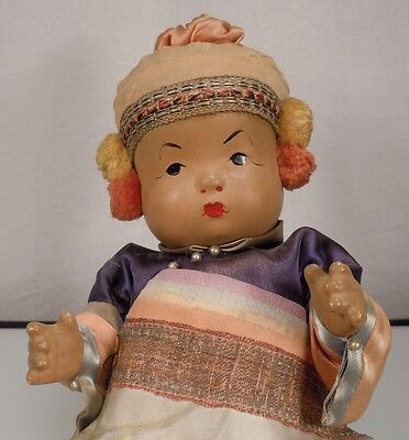 Antique Chinese Composition Baby Doll