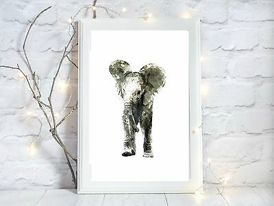 elephant glossy Print poster a4  image picture  wall art unframed