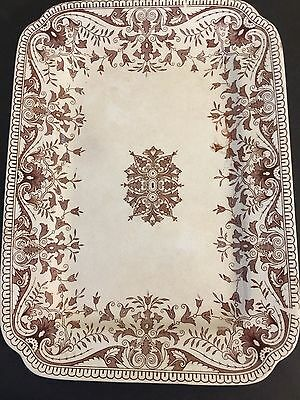 Antique Transferware T&R Boote Tournay Brown Ironstone Made in England Victorian