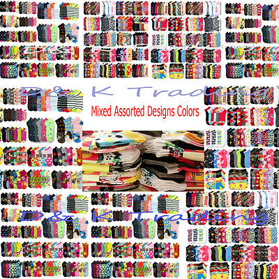 Wholesale Socks Lot Women's Girl 6-8 9-11 Mixed Assorted Designs Colors Novelty
