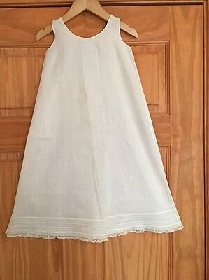Antique Vintage Baby Infant Christening Baptism Gown Slip Cotton