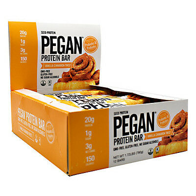 Julian Bakery Pegan Protein Bars 12Ct Vegan Pumpkin Seed Paleo Protein Keto New