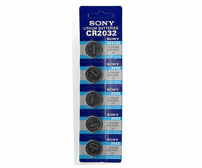 SONY CR2032 3V Lithium Coin Cell Battery CMOS Watch Calculator - 5 Batteries