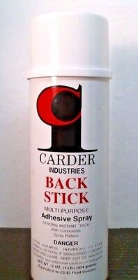 Carder Industries Back Stick Multi-Purpose Adhesive Spray, 16 oz. can, FREE SHIP