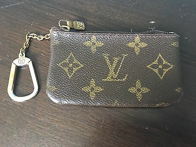 Louis Vuitton Monogram Key Chain Coin Purse Wallet Classic Coveted!
