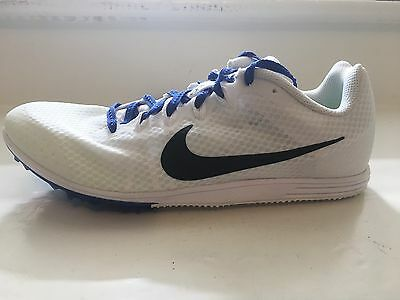 san francisco 15132 fea63 Nike Zoom Rival D 9 Distance Track Spikes Men s Flywire White MSRP  65 NEW