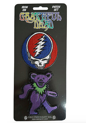 Grateful Dead Iron On Patch Set Free Shipping Officially Licensed P-4561-S