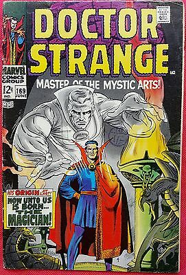DOCTOR STRANGE 169 Marvel Silver Age 1968 Big Premiere Origin Issue