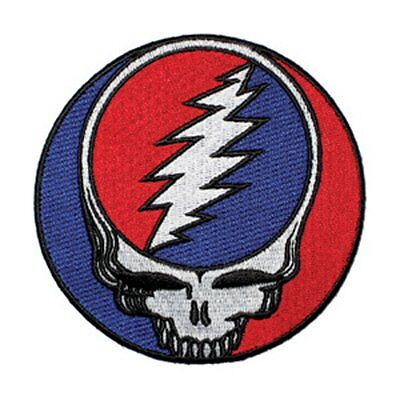 """Grateful Dead Iron On Patch 8"""" Steal Your Face Free Shipping Licensed P-1218-X"""
