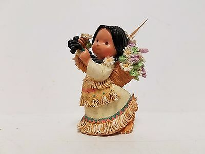 """indian Flower Girl Friends Of The Feather Figurine"