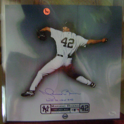 Mariano Rivera AUTOGRAPHED14X14 The Last #42 Steiner Yankees JSA FREE SHIPPING