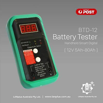 BTD-12 12v 5AH - 80AH Handheld Smart Digital LCD Battery Analyser Load Tester