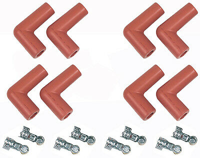 Msd Pro Racing Boots & Terminals 90° Spark Plug End Set Of 8 Msd8852
