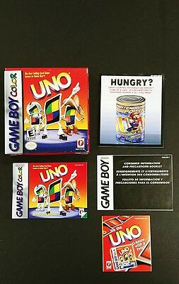 Uno for Nintendo Gameboy Color Box Manual and Inserts Only