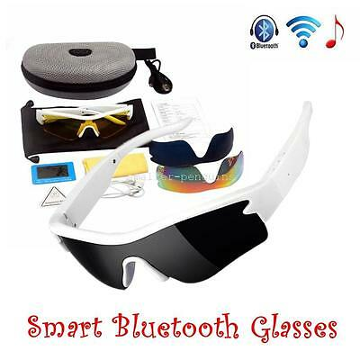 Polarized Sunglasses+Smart Bluetooth+MP3 Headset Headphone For Cell Phone Tablet