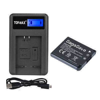1000mAh Battery+LED Charger for Canon NB-11LH NB-11L Battery IXUS 170 160 165