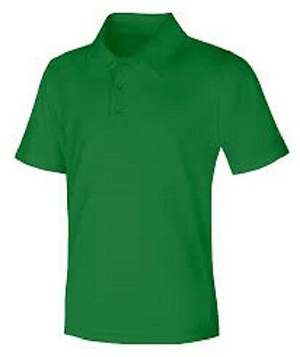 Short Sleeve Pique Knit School Uniform Polo Shirt, Banded Sleeve-Youth and Adult