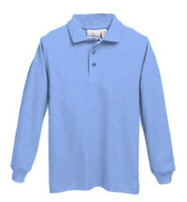 Long Sleeve Jersey Knit School Uniform Polo Shirt - Youth and Adult