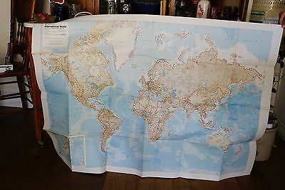 RAND McNALLY INTERNATIONAL WORLD MAP date unknown !