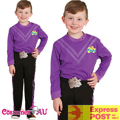 Deluxe Lachy Purple The Wiggles Child Boys Kids Book Week Party Dress Up Costume